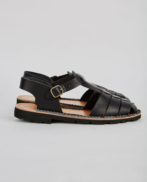 STEVE MONO VEGETABLE TANNED CALFSKIN GLUCA SANDAL