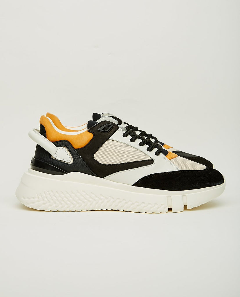BUSCEMI-Veloce Runner Off White & Black-Men Sneakers + Trainers-{option1]