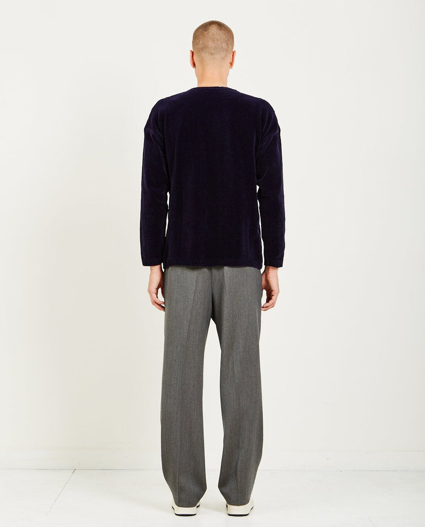 OUR LEGACY-VELVET POPOVER ROUNDNECK-Men Sweaters + Sweatshirts-{option1]