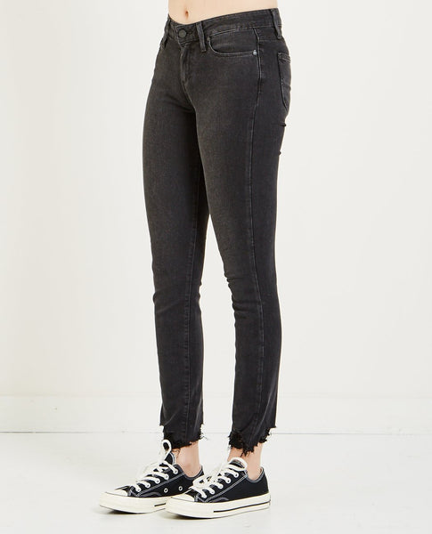 PAIGE VERDUGO ANKLE JEANS SUPER DISTRESSED HEM