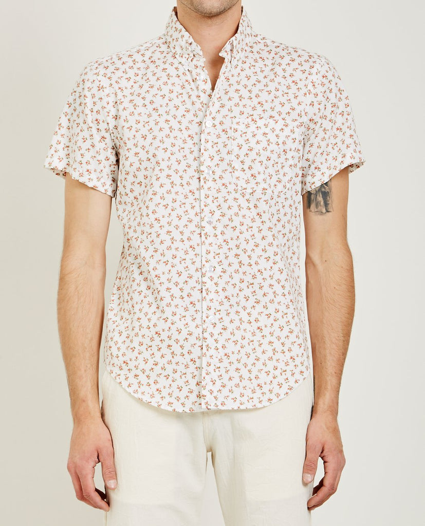 VINTAGE FLOWERS SHIRT WHITE-NAKED & FAMOUS-American Rag Cie