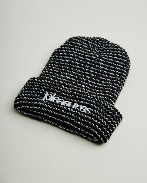 PLEASURES VIOLATION STRIPED BEANIE