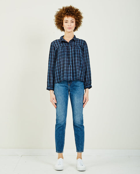 MASSCOB VIVIEN PLAID HENLEY