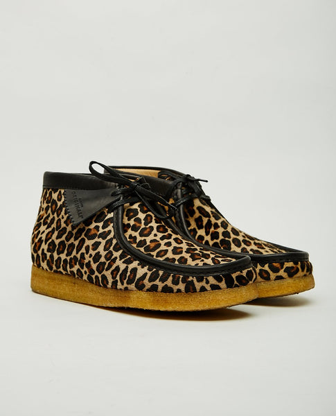 CLARKS ORIGINALS WALLABEE BOOT LEOPARD