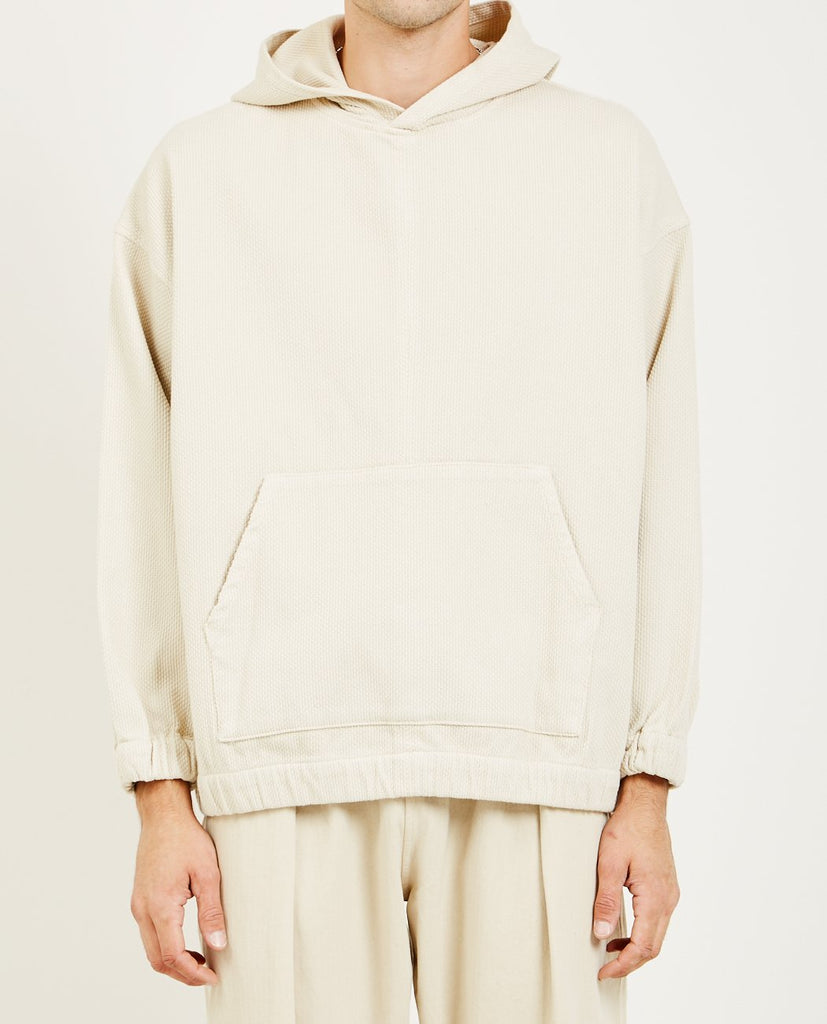 PROSPECTIVE FLOW-WARA HOODIE NATURAL-Men Sweaters + Sweatshirts-{option1]