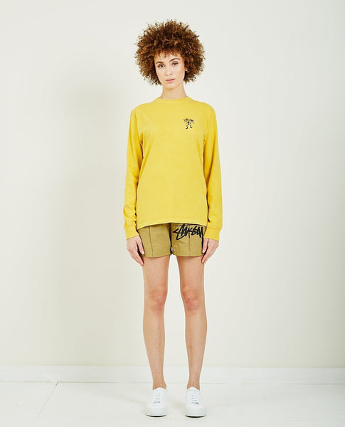 STUSSY WARRIOR MAN PIGMENT DYED LONG SLEEVE TEE
