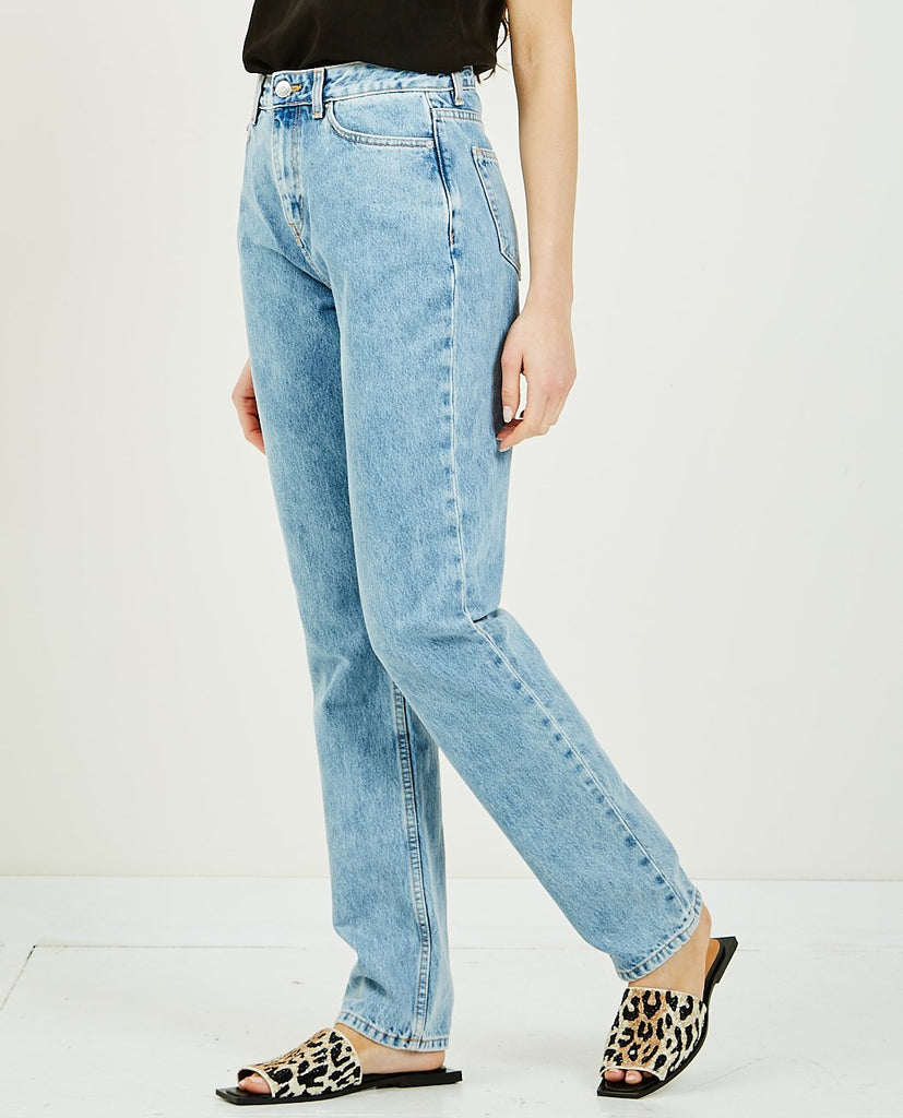 GANNI-Washed Denim-Women Straight-{option1]