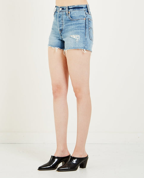 LEVI'S WEDGIE SHORTS- BLUE YOUR MIND