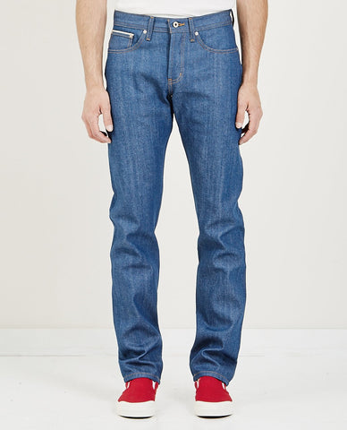 NAKED & FAMOUS SUPER GUY JEAN BLUE STORM SLUB