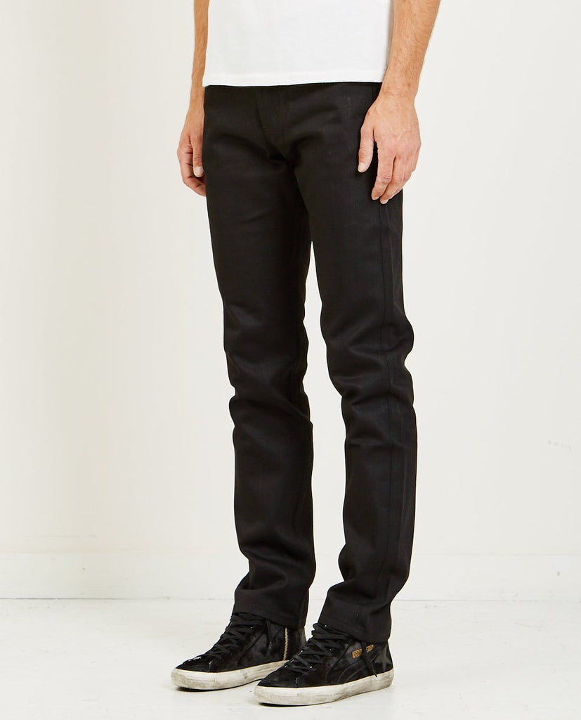 NAKED & FAMOUS-WEIRD GUY SOLID BLACK SELVEDGE JEAN-Men Skinny-{option1]