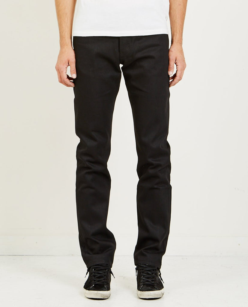NAKED & FAMOUS Weird Guy Solid Black Selvedge Jean