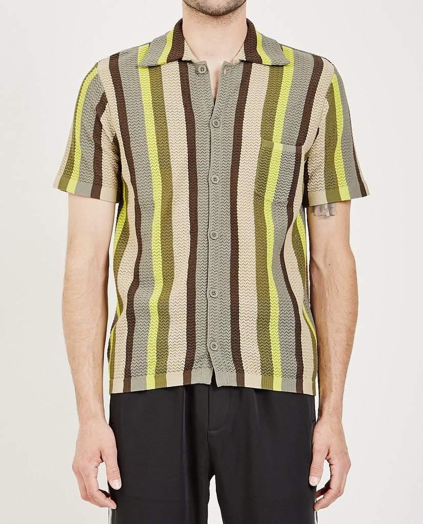 CMMN SWDN-WES KNITTED SHIRT-Men Shirts-{option1]
