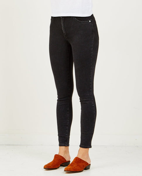 ROLLA'S WEST COAST ANKLE JEAN SHADOW BLACK