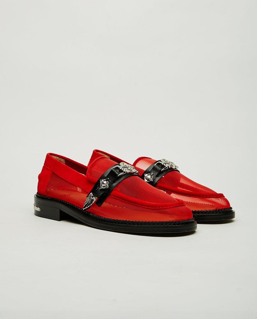 TOGA PULLA-Western Detail Mesh Loafer-Women Flats-{option1]