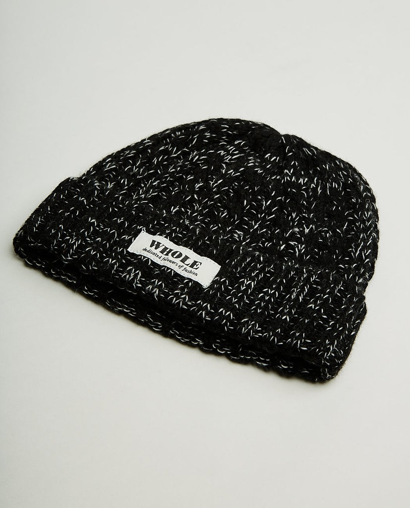 WHOLE KNIT MARBLED BEANIE-WHOLE MILK-American Rag Cie