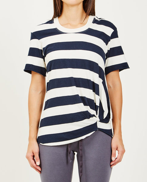 STATESIDE WIDE STRIPE TWIST TEE