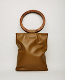 MODERN WEAVING-WOOD CIRCLE HANDLE TOTE-Women Bags + Wallets-{option1]