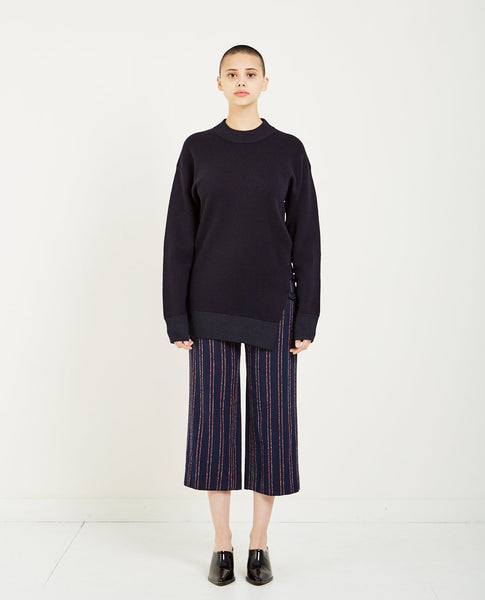 CARVEN WOOL CHAIN SWEATER