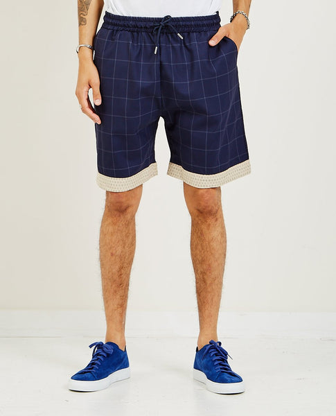 DROLE DE MONSIEUR Wool Check Short