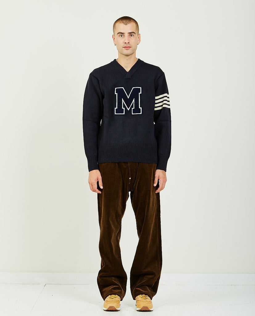 JUNYA WATANABE MAN WOOL JERSEY X COTTON PL LIND SWEATER