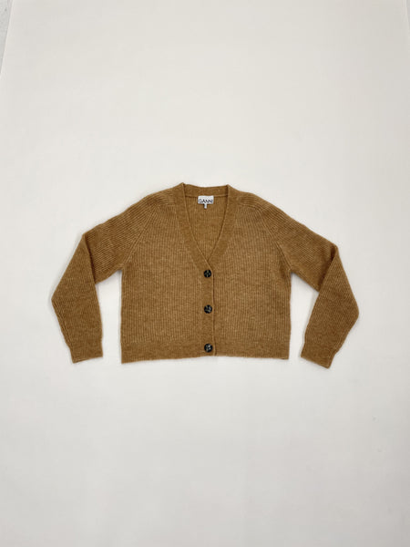 GANNI Wool Knit Cardigan