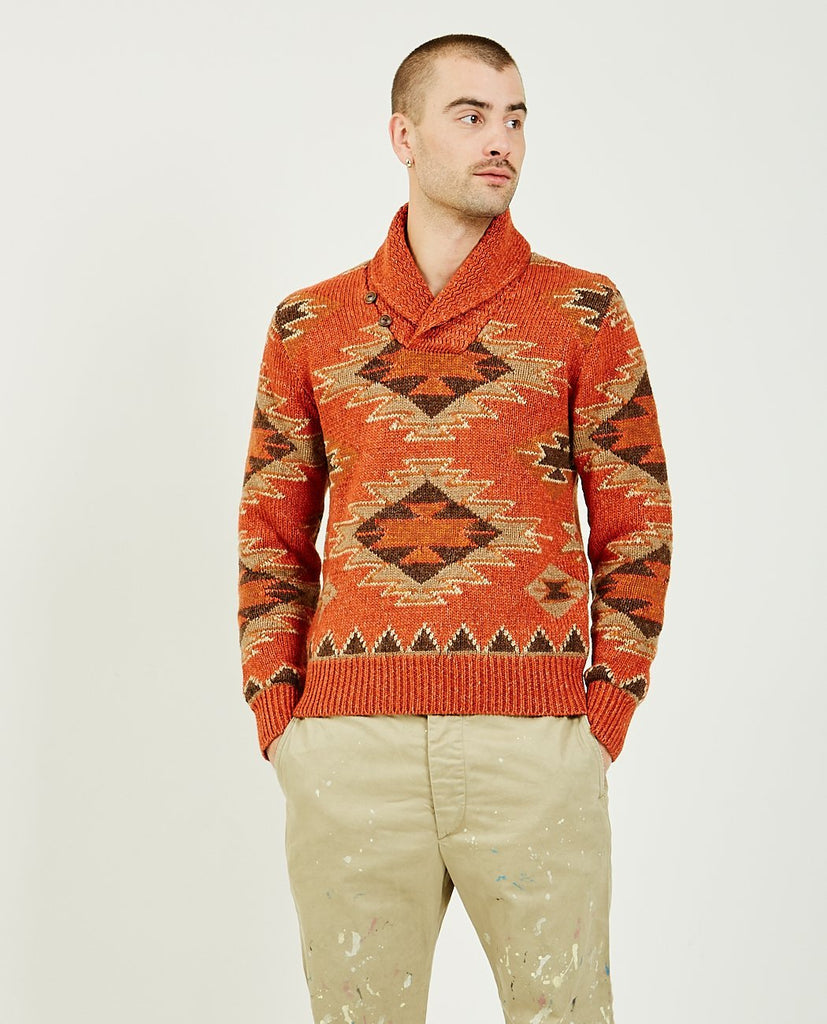 RRL-Wool Silk Linen Sweater-Men Sweaters + Sweatshirts-{option1]