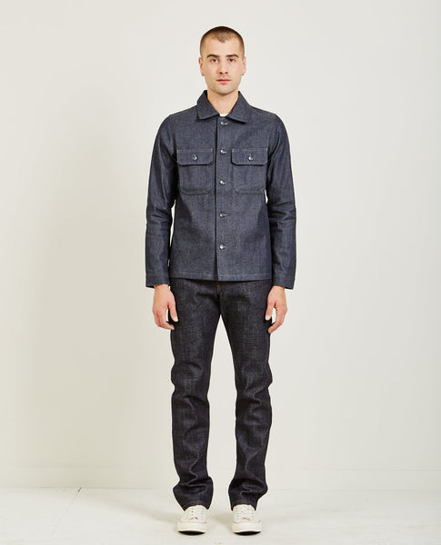 NAKED & FAMOUS WORKSHIRT 10OZ INDIGO