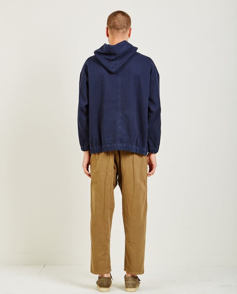 PROSPECTIVE FLOW-WOVEN HOODIE NAVY-Men Sweaters + Sweatshirts-{option1]