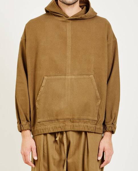 PROSPECTIVE FLOW WOVEN HOODIE OLIVE