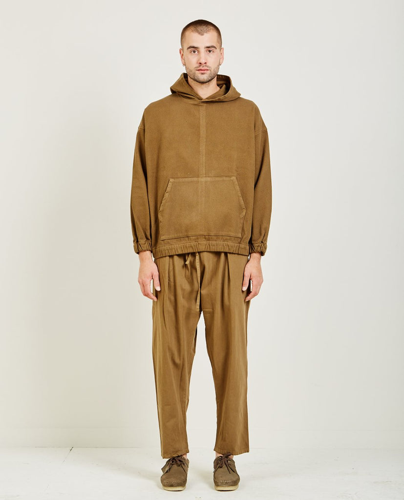 PROSPECTIVE FLOW-WOVEN HOODIE OLIVE-Men Sweaters + Sweatshirts-{option1]
