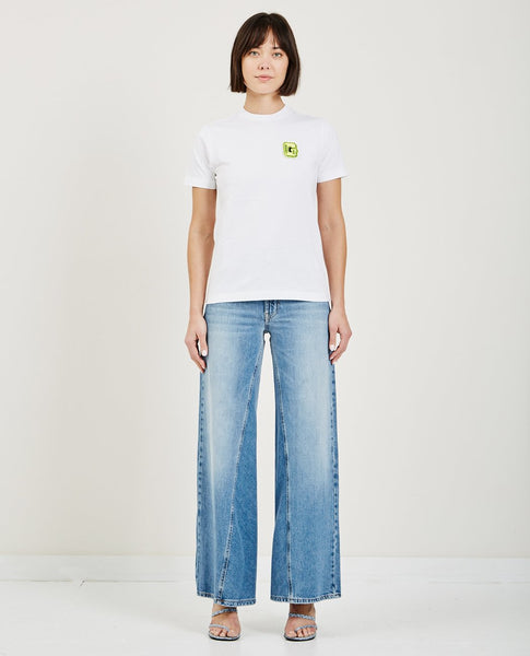 GANNI WRIGHT PATCH TEE