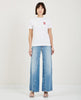 GANNI-WRIGHT PATCH TEE-Women Tees + Tanks-{option1]