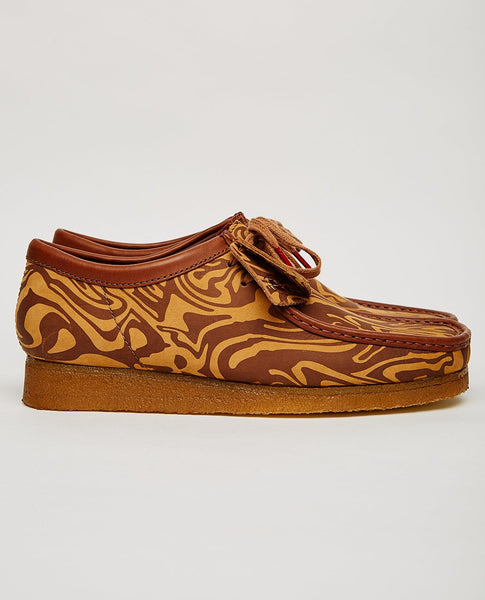 CLARKS ORIGINALS WU WEAR WALLABEE LO BROWN