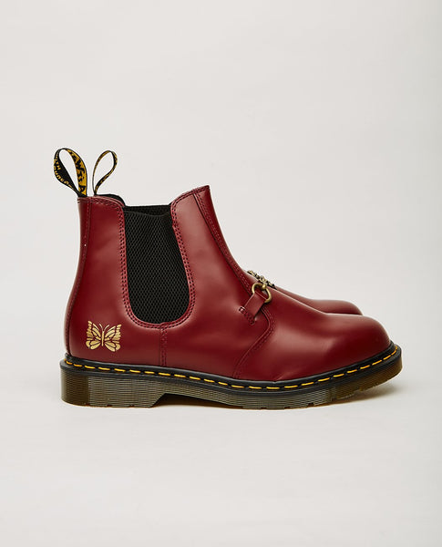 DR. MARTENS x Needles 2976 Snaffle Chelsea Boot Cherry