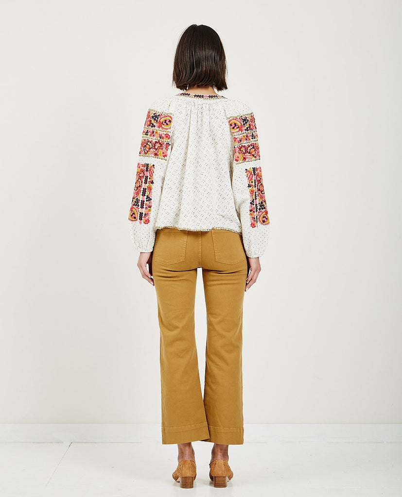 ULLA JOHNSON-YARA BLOUSE CREAM-Blouses-{option1]