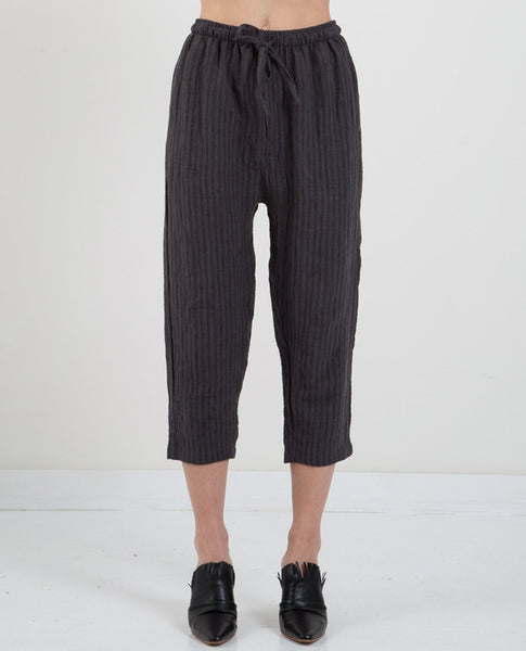 PRIORY YU LINEN STRIPE PANTS