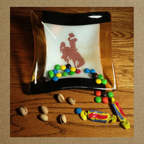 Bucking Bronco 8 x 8 Snack or Candy Bowl