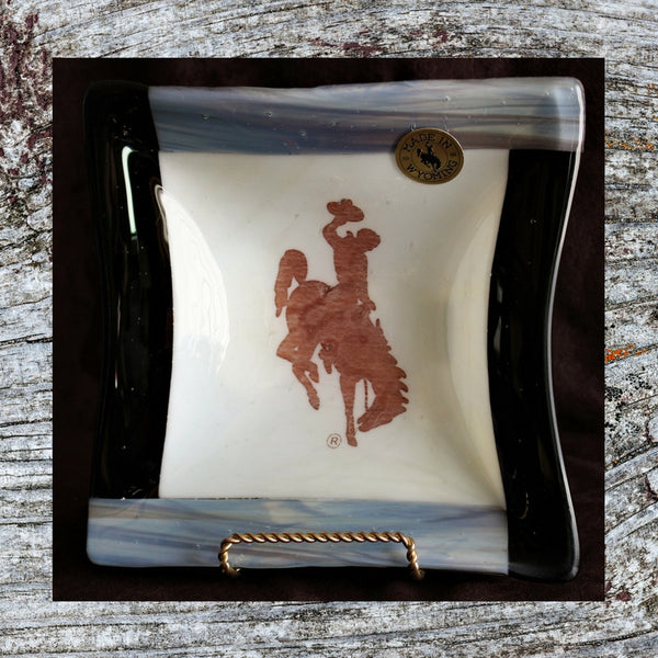 Bucking Bronco 8 x 8 Snack or Candy Bowl     Barnwood