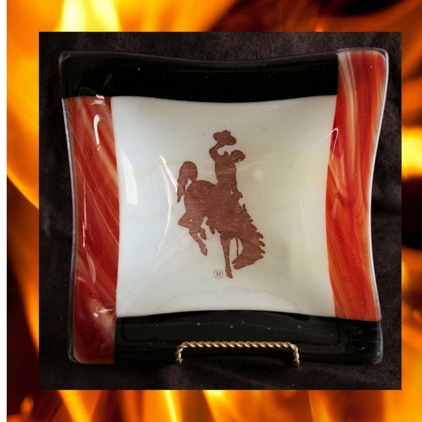 Bucking Bronco 8 x 8 Snack or Candy Bowl     Fireside