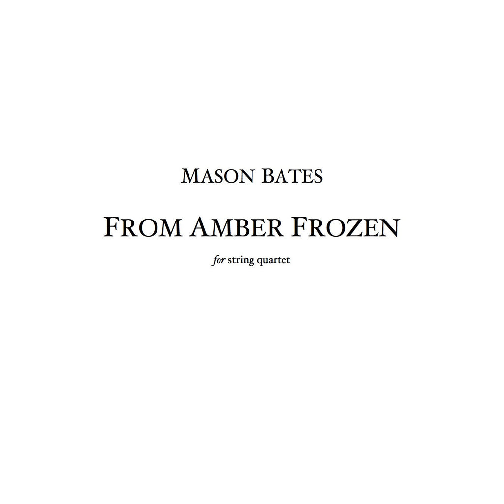 From Amber Frozen