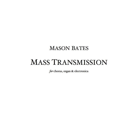 Mass Transmission - Piano/Vocal (Synth Version)