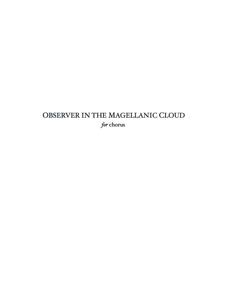Observer in the Megellanic Cloud