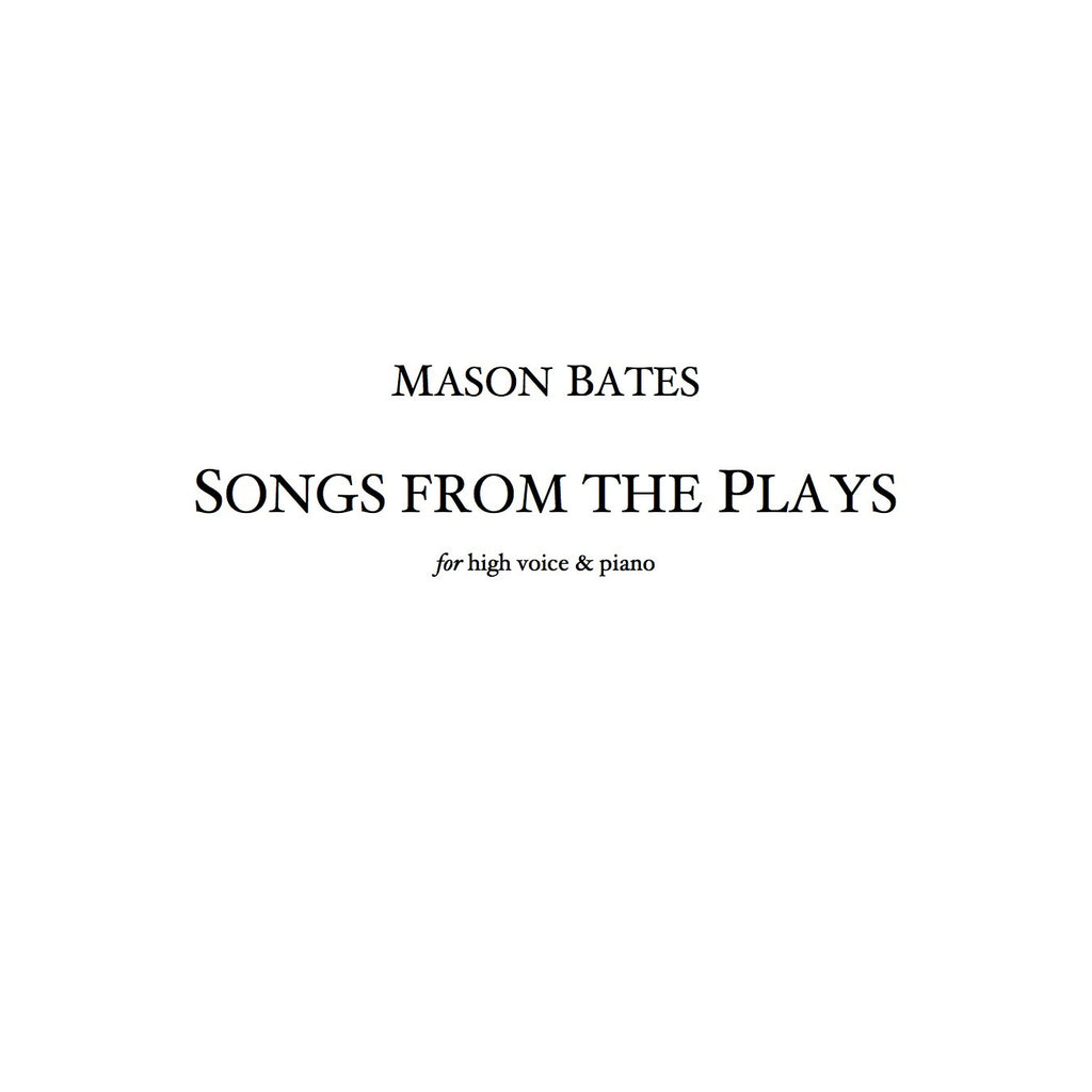 Songs from the Plays