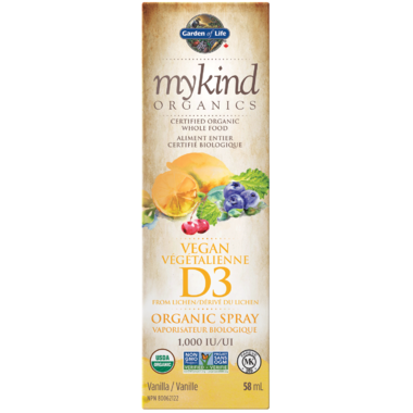 Garden of Life MyKind Organics Vitamin D3 Organic Vanilla Spray 58ml