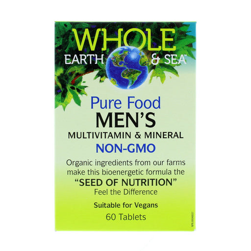Pure Food Men's Multivitamin & Mineral NON-GMO 60 Tablets