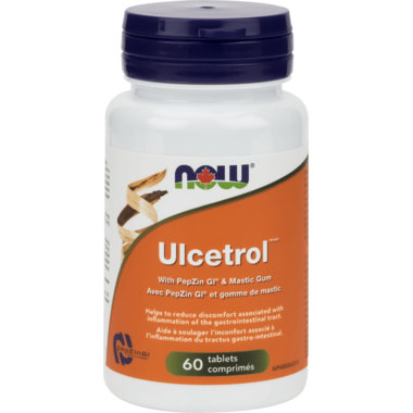 NOW Foods Ulcetrol With PepZin GI & Mastic Gum 60 Tablets
