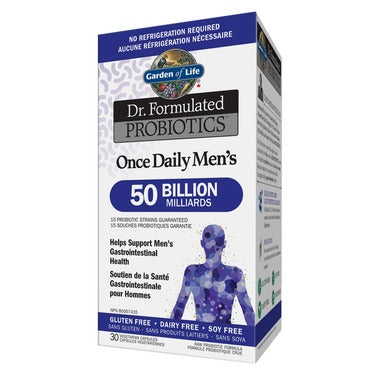 Garden of Life Dr. Formulated Probiotics Once Daily Men's Shelf Stable 30 Veggie Capsules