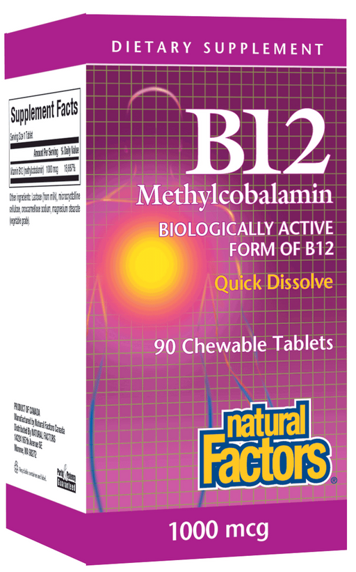 Vitamin B12 Methylcobalamin 1000mcg Chewable