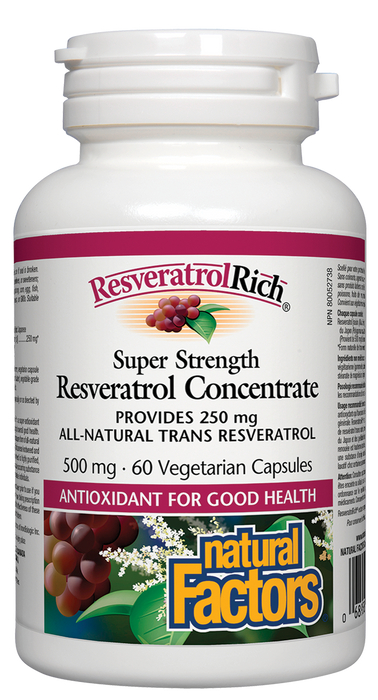 Natural Factors ResveratrolRich Super Strength 500mg