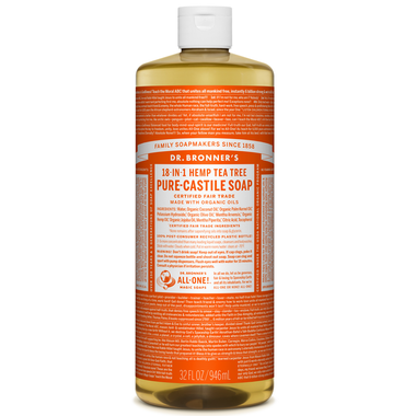 Dr. Bronner's Organic Pure Castile Liquid Soap Tea Tree